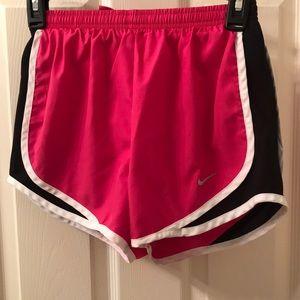 Nike pink/black/white running shorts size XS - $12